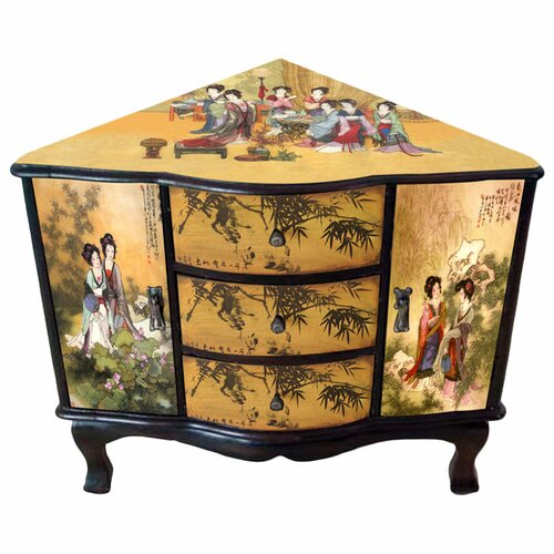 Enchanted Ladies Corner Cabinet