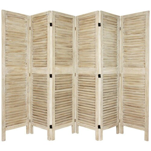 "Oriental Furniture 67"" Tall Classic Venetian 6 Panel Room Divider"