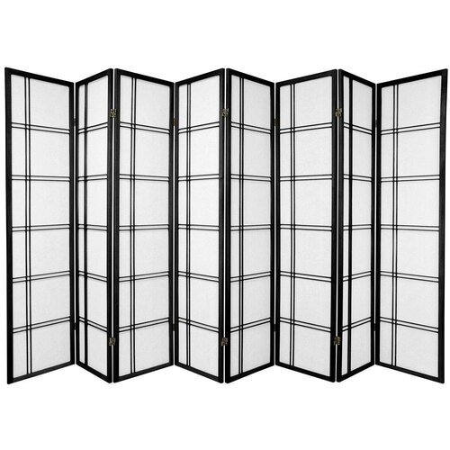 "Oriental Furniture 70"" x 112"" Double Cross Shoji 8 Panel Room Divider"