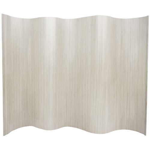 """Oriental Furniture 72.25"""" x 98"""" Bamboo Tree Tall Wave Room Divider"""