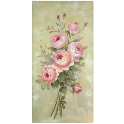 Hand Painted Rustic Roses Original Painting on Canvas