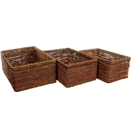 Hand Woven Space Saver Basket (Set of 3)