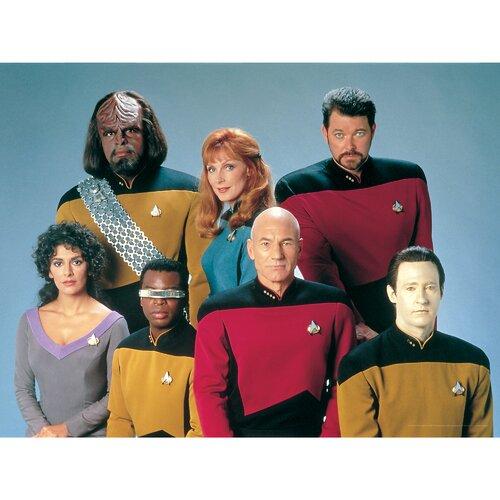 Oriental Furniture Star Trek Picard, Riker, Data, Worf, LaForge, Crusher, Troi Photographic Print on Canvas