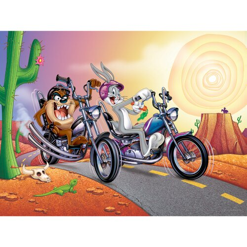 Oriental Furniture Bugs and Taz Biker Canvas Art