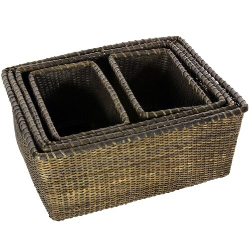 Oriental Furniture Rattan Space Saver Basket
