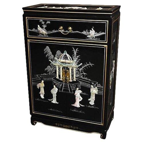 Chinese Mother of Pearl Shoe Cabinet