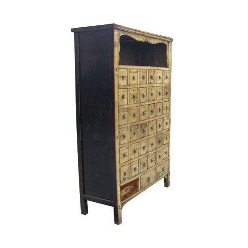 Oriental Furniture Chinese 39 Drawer Medicine Chest