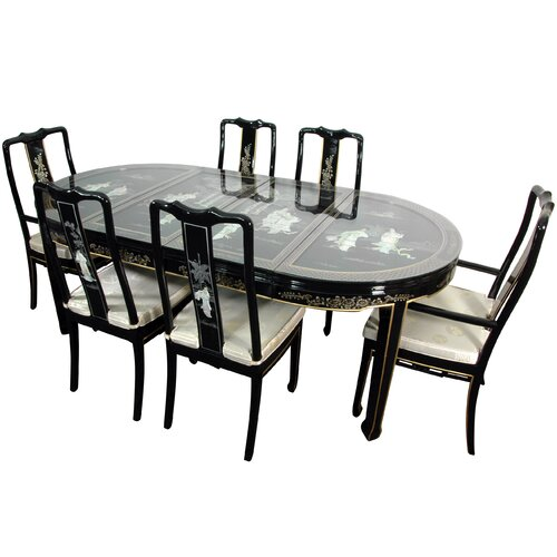 Lacquer 7 Piece Dining Set