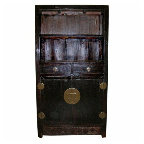 Oriental Furniture 2 Drawer Tall Cabinet