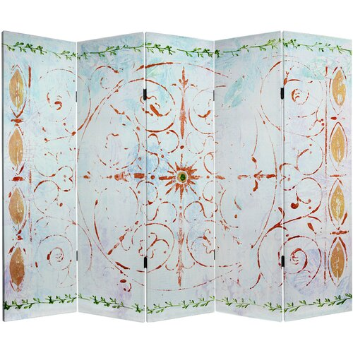 "Oriental Furniture 60"" x 78.5"" Winter's Peace 5 Panel Room Divider"