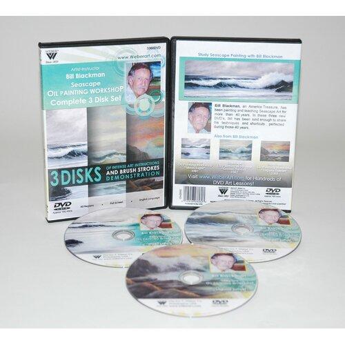 Weber Art BLACKMAN DVD SEASCAPE OIL PAINTING 3 HOUR-1hr of each of DVD 3361, 3362, & 3363.