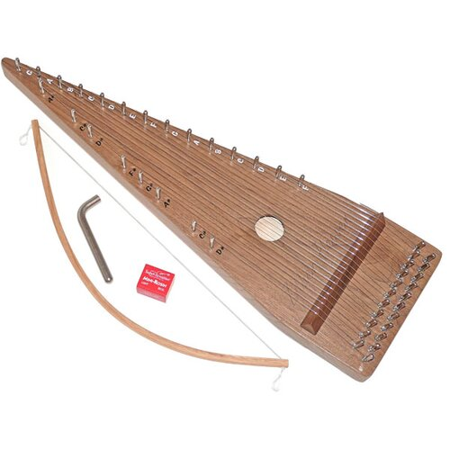 Zither Heaven Twenty-two String Black Walnut Bowed Psaltery