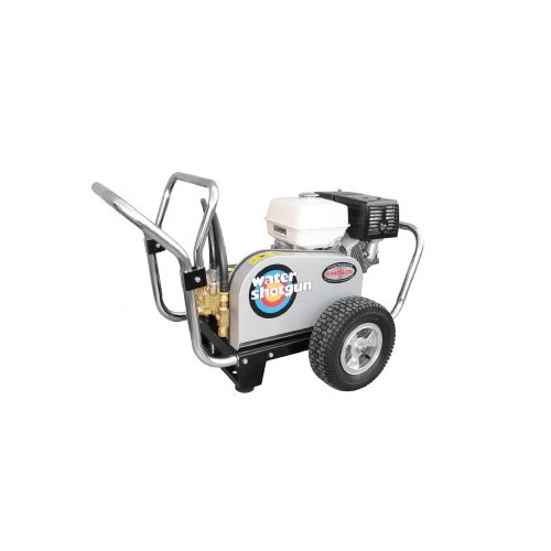 Water Shotgun 3500 PSI Cold Water Gas Powered Pressure Washer w/ Honda Engine (Belt Drive) ...