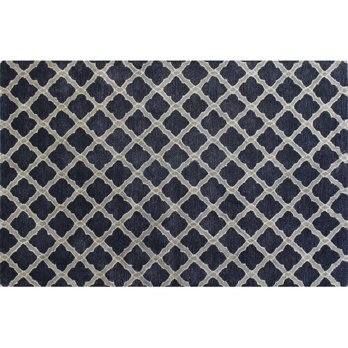 Bashian Rugs Norwalk Blue White Geometric Area Rug