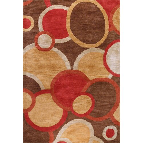 Bashian Rugs Chelsea Circle Chocolate Rug