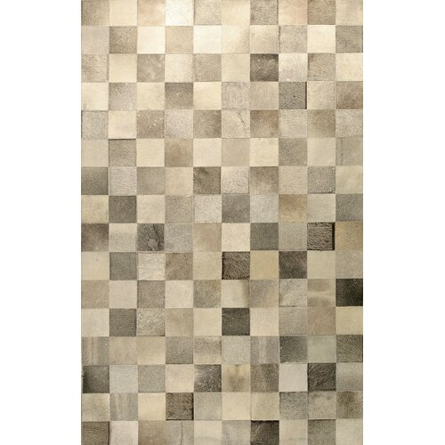 Bashian Rugs Cow Hide Grey Rug