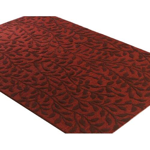 Bashian Rugs Verona Red Ivy Rug