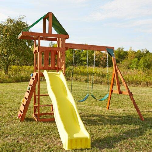 Swing n Slide Play Set Scrambler Swing Set & Reviews