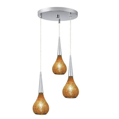 Woodbridge Lighting Torine 3 Light Mini Pendant Cluster