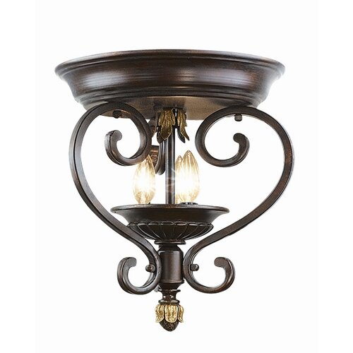 woodbridge lighting harrington 3 light flush. Black Bedroom Furniture Sets. Home Design Ideas