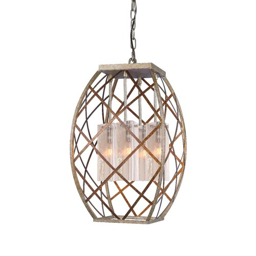 Braid 4 Light Foyer Pendant