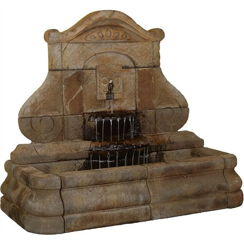 Henri Studio Wall Cast Stone Avignon Fleur de Lys Fountain