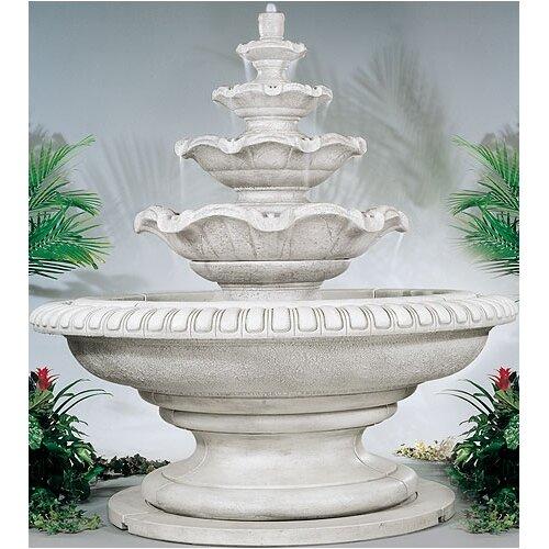 Tiered Cast Stone Palazzo Quattro Waterfall Fountain