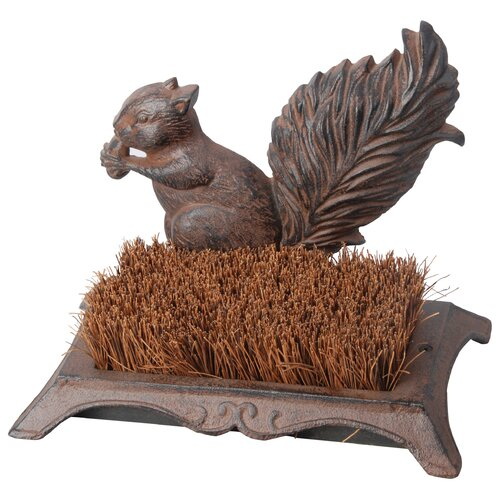 Best For Birds Boot Brush Squirrel Statue