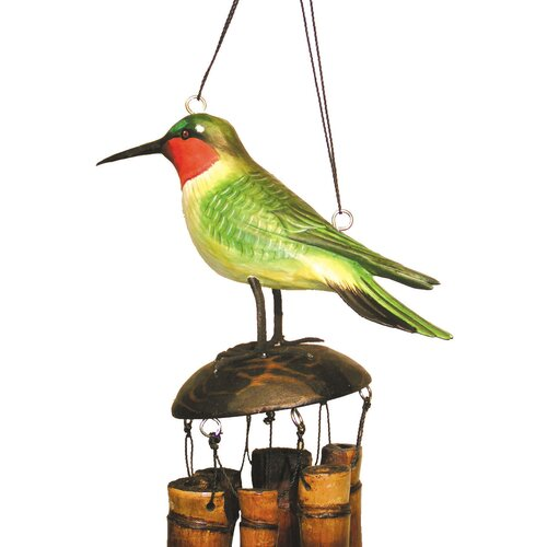 Cohasset Imports Ruby Throated Humm Wind Chime