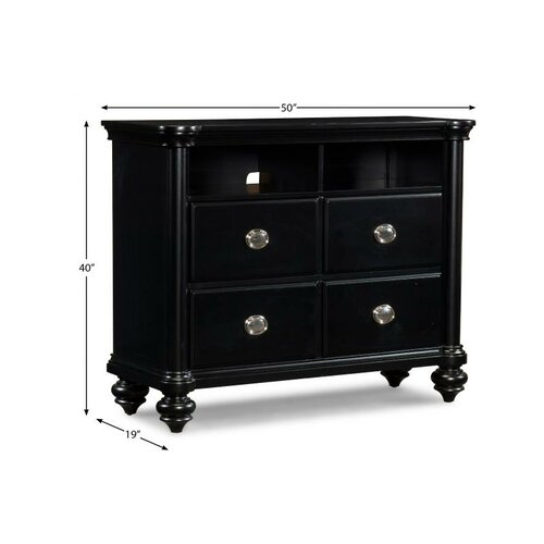 Klaussner Furniture Danbury 4 Drawer Media Chest