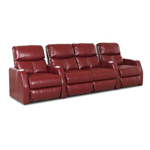 Klaussner Furniture Ambassador Home Theater Bonded Leather Recliner (Row of 4)