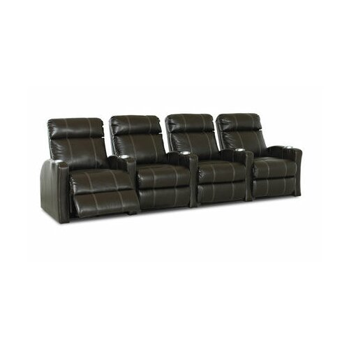Klaussner Furniture Shubert Home Theater Bonded Leather Recliner (Row of 4)