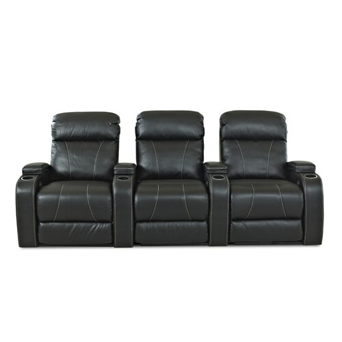 Klaussner Furniture Astor Place Home Theater Bonded Leather Recliner (Row of 3)