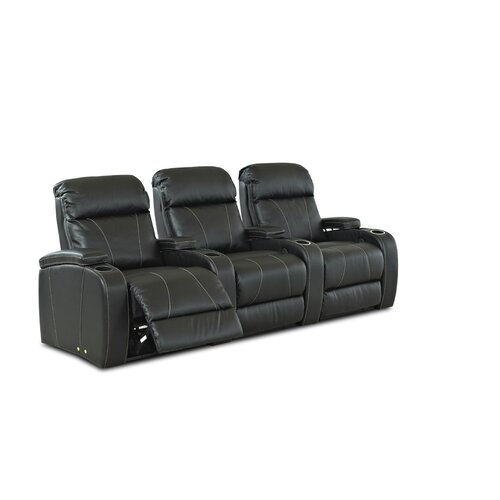 Klaussner Furniture Showcase-Us Home Theater Bonded Leather Recliner (Row of 3)