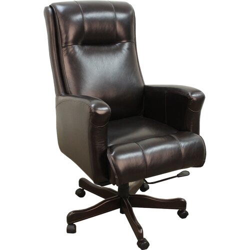 High Back Executive Leather Office Chair Wayfair