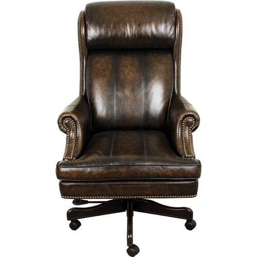 Parker House High Back Executive Leather Chair amp Reviews  : Parker House Furniture High Back Desk Chair DC105 <strong>Black Leather</strong> Desk Chair from www.wayfair.com size 500 x 500 jpeg 42kB