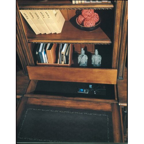 "Parker House Furniture Barcelona 32"" Peninsula Desk Base in Dark Red Walnut"