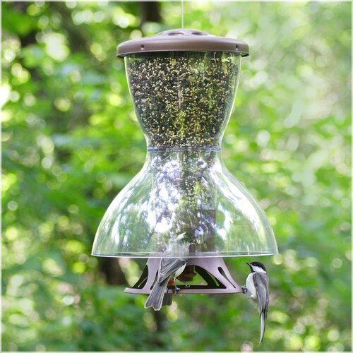 Perky Pet Fortress The Bird Shelter Squirrel Proof Hopper Bird Feeder