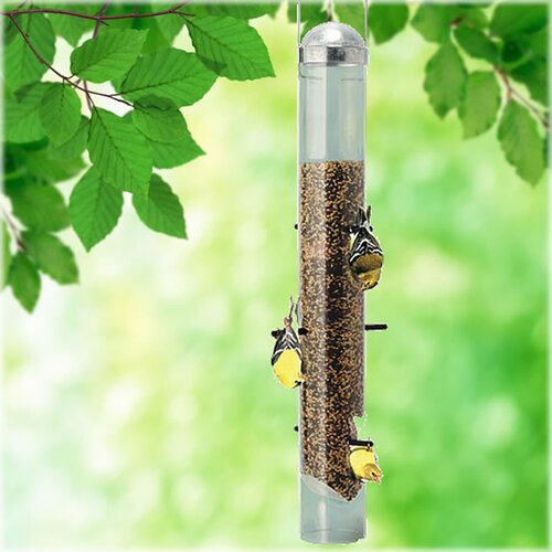 Patented Deluxe Upside Down Thistle Bird Feeder