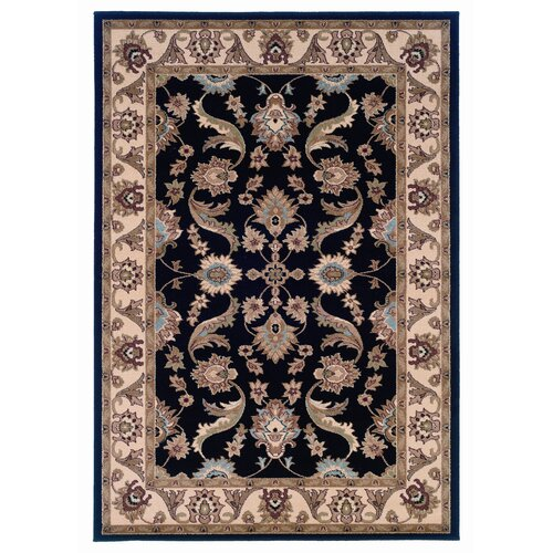 LR Resources Adana Black/Cream Rug