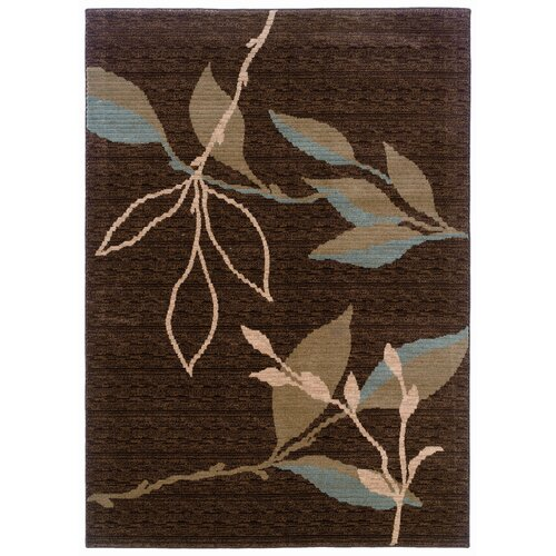 LR Resources Opulence Brown/Light Moss Rug