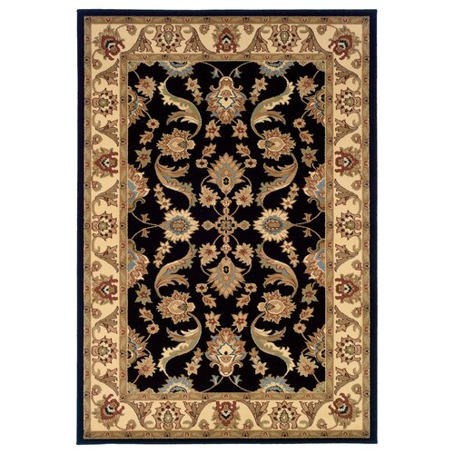 Adana Black/Cream Persian Rug