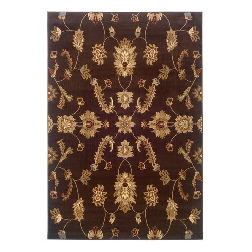 LR Resources Adana Brown Traditional Design Rug