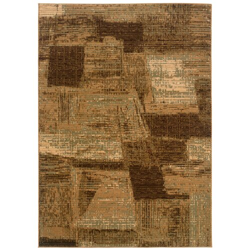 LR Resources Opulence Light Brown/Cream Abstract Brushstroke Rug