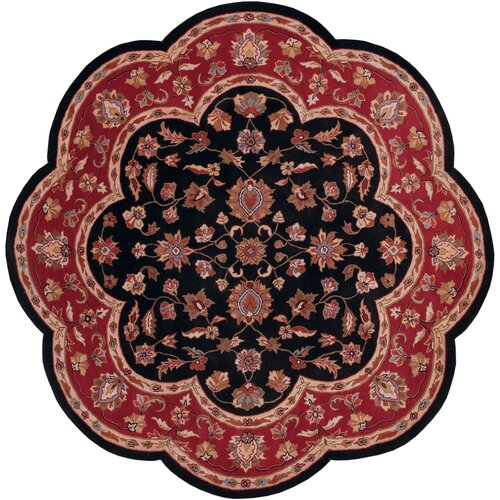 Shapes Black/Red Persian Rug