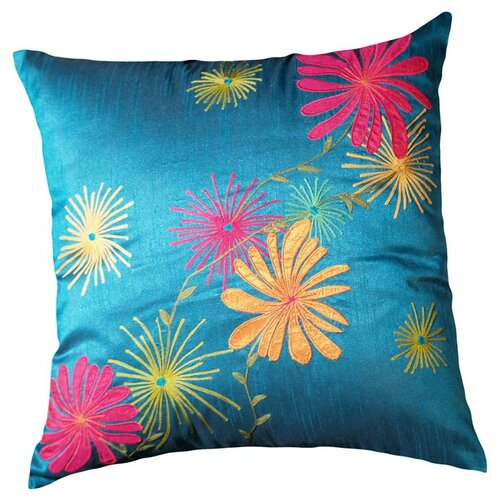 LR Resources Plumeria Polyester Pillow