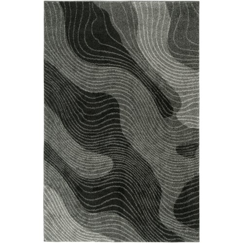 LR Resources Rock Dark Grey Rug