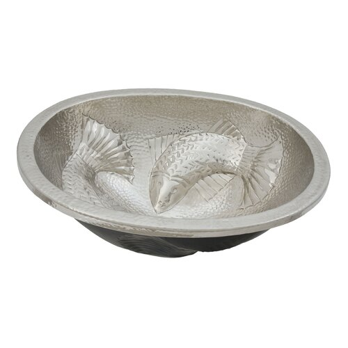 Moon Wrasse Oval Hand Hammered Copper Bathroom Sink
