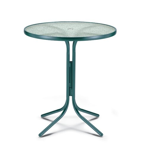 Obscure Acrylic Top Table Round Bar Height Table with Hole