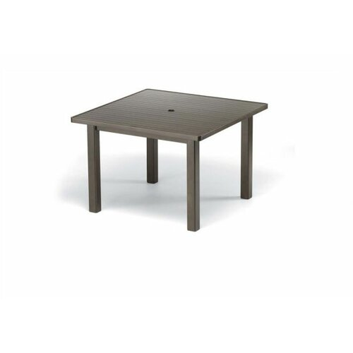 Telescope Casual 42'' Square Aluminum Slat Dining Height Table